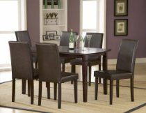 Verona Dining Room Furniture Set with Parsons Chairs - Hillsdale Furniture - Dining Room Furniture Sets, Dining Chairs, Dining Table, Teen Girl Bedrooms, Teen Bedroom, Hillsdale Furniture, 7 Piece Dining Set, Parsons Chairs, Beauty Room