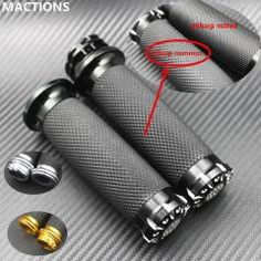 "[ 25% OFF ] For Harley Handlebar Grips Handle Bar Grips 1""25Mm Fits Softail Sportster Touring Dyna Custom Cnc Aluminum&none-Slip Gel Rubber"