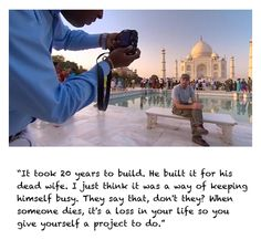 Karl Pilkington at the Taj Mahal