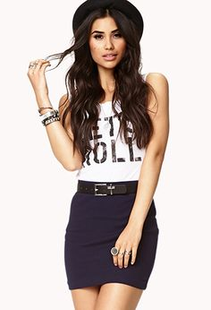 Forever 21 is the authority on fashion & the go-to retailer for the latest trends, styles & the hottest deals. Shop dresses, tops, tees, leggings & more! Shop Forever, Forever 21, Clubbing Outfits, How To Feel Beautiful, Dress Me Up, Dress Skirt, Latest Trends, Mini Skirts, My Style