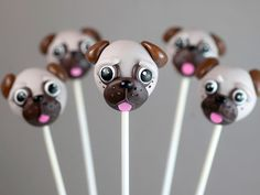 Pug Cake Pops - are you kidding? These are beyond cute.