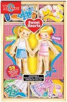 T.S. Shure   Sweet Hearts Wooden Magnetic Dress-Up Dolls