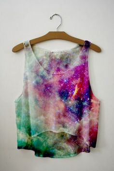 Galaxy tank. <3333 soooo cute!!!!! i they make them in plus size i would so wear this