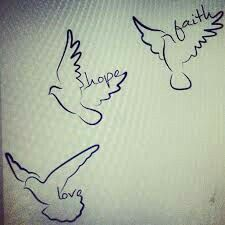 Bird tattoos - maybe with names/dates/initials?