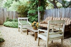 just gravel & love the rustic fence