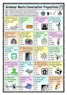 Grammar Meets Conversation: Prepositions (7) - Asking Questions