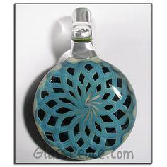 Glass Reticello Pendant  boro lampwork focal bead  by GlassPeace, $35.00 - PART