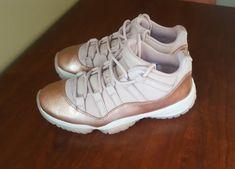 c3a10470ddf9ec Nike Air Jordan 11 Retro Low Rose Gold Women s Size 7 Pre-Owned (No