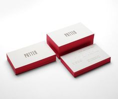 business cards with colored edges. house of regency cards.