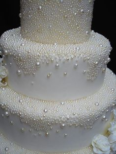 Cake decorating Gear: whenever you're decorating for birthdays and the holidays, you do not require each cake decorating tool on the market, however, you need a few fundamentals. Listed here are essential for cake decorating. White Wedding Cakes, Beautiful Wedding Cakes, Gorgeous Cakes, Pretty Cakes, Amazing Cakes, Dream Wedding, Gorgeous Gorgeous, Pearl Wedding Cakes, Cake Wedding