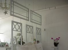 old windows as a room dividers
