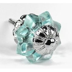 For chest? Arctic Blue Glass Melon Cabinet Knobs, Drawer Pulls, Handles, Hardware ~ Old Vintage Style Melon Glass Knobs with Florentine Hardware Cheap Cabinets, Kitchen Cabinets, Vintage Style, Vintage Fashion, Door Knobs And Knockers, Dresser Drawer Pulls, Furniture Knobs, Glass Knobs, Cabinet Knobs