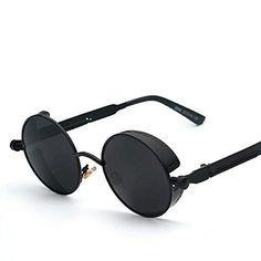622c4ebe19 Gothic Steampunk Mens Sunglasses Coating Mirrored Sunglasses Round Circle  Sun glasses Retro Vintage Gafas Masculino Sol Check it out!