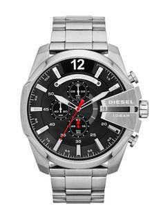 Diesel DZ4308 Men's Mega Chief Sliver Stainless Steel Watch