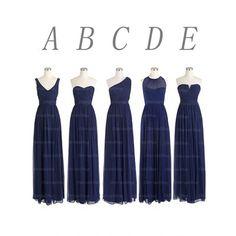 Navy blue bridesmaid dresses, long bridesmaid dresses, chiffon bridesmaid dresses, mismatched bridesmaid dress, cheap bridesmaid dresses, 15225