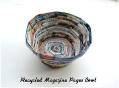 A kid friendly craft with lots of messy glue using recycled magazine pages