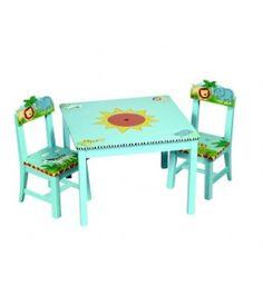 Guide Craft - Table et chaises en bois Safari sur www.babyssima.com