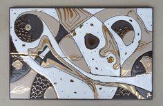 """Tableau """"organique beige"""" en lave émaillée : Décorations murales par pepite-de-lave"""