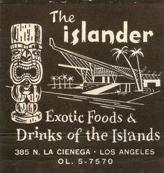 Critiki is a guide to over tiki bars, Polynesian restaurants and other sites of interest to the midcentury Polynesian Pop enthusiast. Part historic archive, part travel guide, and all tiki. Tiki Hawaii, Hawaiian Tiki, Vintage Tiki, Vintage Labels, Vintage Hawaii, Tiki Art, Tiki Tiki, Vintage Cocktails, Tiki Bar Decor