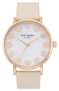 kate spade new york 'metro' boxed dot dial watch & straps set, 34mm (Nordstrom Exclusive) available at #Nordstrom