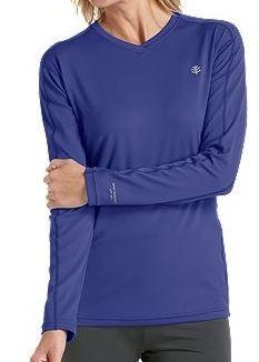 b65dcf3c7d51 Coolibar navy sun protection women s long sleeve sport t-shirts  light