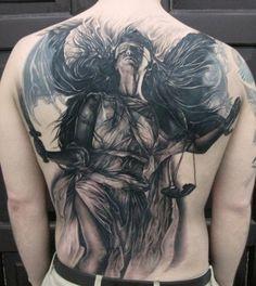 Tattoos.net's Tattoos - Tattoos.net. Lady Justice back peace.