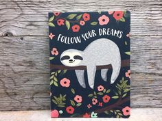 Cahier de notes - Paresseux Dreaming Of You, Notebook, Sloth, The Notebook, Exercise Book, Notebooks