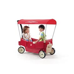 Step2 All Around Canopy Wagon Red #wagonsforkids