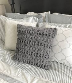 Ideas Crochet Patterns Pillow Cover Etsy For 2019 Crochet Pillow Pattern, Crochet Cushions, Crochet Patterns, Crochet Ideas, Euro Sham Size, Great Wedding Presents, Monogram Pillows, Pillow Texture, Crochet Projects