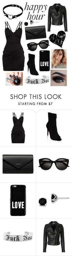 """Goth happy hour"" by heatherhorn-1 ❤ liked on Polyvore featuring Balenciaga, Givenchy, BillyTheTree and IRO"