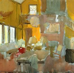 ring the bells that still can ring  forget your perfect offering  there is a crack in everything  that's how the light gets in    ~leonard cohen    FAIRFIELD PORTER (1907-1975) Maine Interior