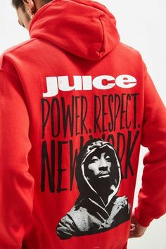 f45b57d06e50 Details about NEW JUICE X 2PAC  92 WRECKING CREW RED MEN S HOODIE HOODED SWEATSHIRT  SIZE SMALL