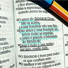 Lamentações 3:22-24. -NTLH