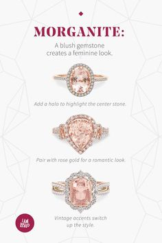 Pair morganite with rose gold for a modern look with exceptional value. Morganite Engagement, Wedding Engagement, Wedding Bands, Engagement Rings, Wedding Ring, Or Rose, Rose Gold, Dream Ring, Diamond Are A Girls Best Friend