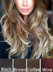 2016 Fashion Women Wedding hairstyle Curly Wave Clip in Hair Extensions Wigs Curly Hair Linen Velcro One Piece Hair Extensions Brunette Hair Color, Dark Ombre Hair, Balayage Straight Hair, Ombre Hair Color, Cool Hair Color, Balayage Hair, Blonde Ombre, Auburn Balayage, Ombre Brown, Dark Brown