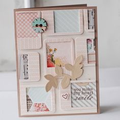 Heart-Smile - love the use of the framed out die.