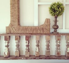 Old stair banister for decor