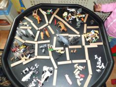 Grouping/sorting, counting and making enclosures - via Katherine Richardson ≈≈
