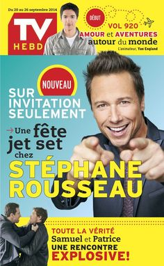 Stephane Rousseau, Magazine, Tv, Guide, Public, Digital, Movie Posters, Products, Television Set