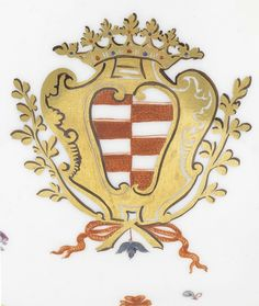 Servizio Taparelli, particolare dello stemma, 1730 circa. © Bonhams Miniature, Symbols, Art, Museum, Art Background, Kunst, Miniatures, Performing Arts, Glyphs
