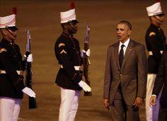 Obama llega a Panamá para asistir a la Cumbre y el esperado encuentro con Castro