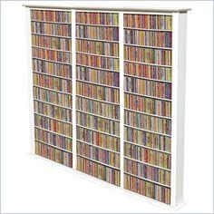 Venture Horizon Triple 76-Inch Tall CD DVD Wall Rack Media Storage