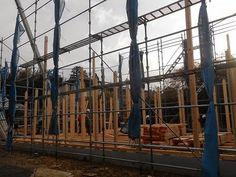 日々精進 理想の住宅: 自然素材の家 棟上げ