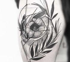 Perfect black and grey Owl tattoo art by tattoo artist Frank Carrilho