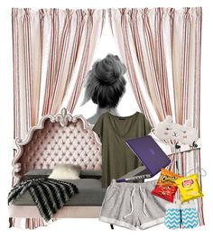 """""""bed all day"""" by bellanindia on Polyvore featuring HiEnd Accents, Haute House, H&M, P.J. Salvage, Leisureland, Speck and Athleta"""