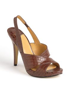 Ripper Leather Slingback Platform Sandals from Nine West! #lordandtaylor