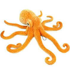 Jesonn Giant Realistic Stuffed Marine Animals Soft Plush Toy Octopus Orange335 or 85CM1PC *** To view further for this item, visit the image link.