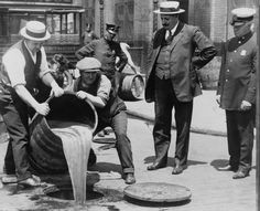 Police Raiding Bootleg Liquor, New York City Police raiding bootleg liquor during the Prohibition era. New York City, circa Nagasaki, Hiroshima, Fukushima, Us History, American History, American Life, History Photos, Fake History, Beer History