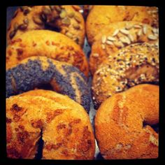 assorted whole wheat bagels - Photo by ahwlee • Instagram
