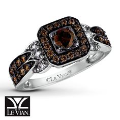 chocolate diamonds | Kay - LeVian Chocolate Diamonds 3/4 ct tw Ring 14K Vanilla Gold